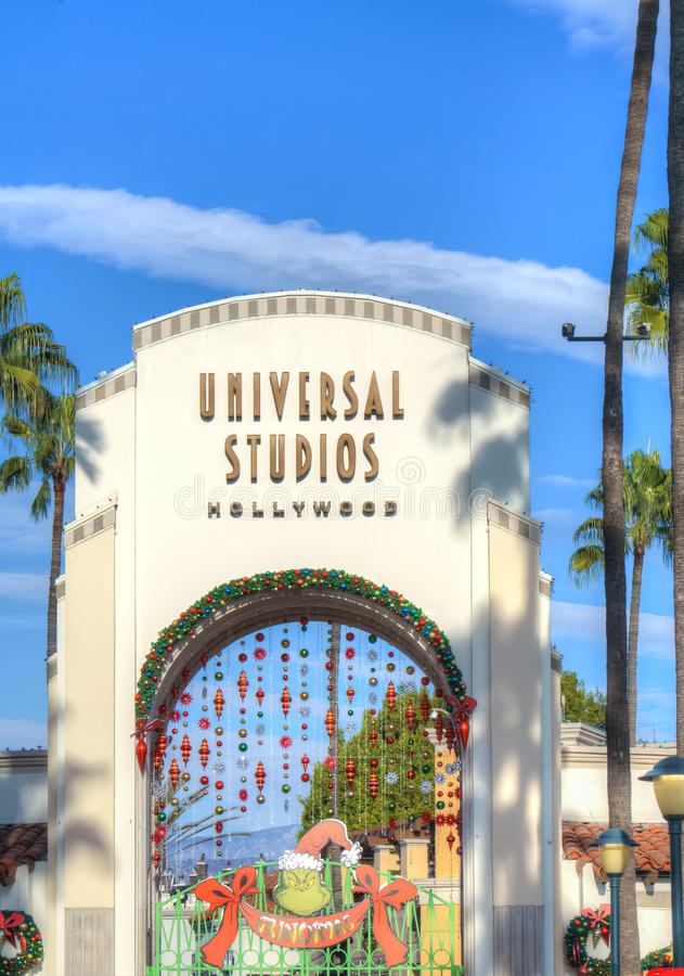 Studios universels de l'entrée de Hollywood photo libre de droits