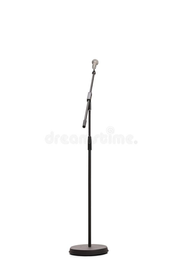 Studioschot van een microfoon op een tribune stock foto