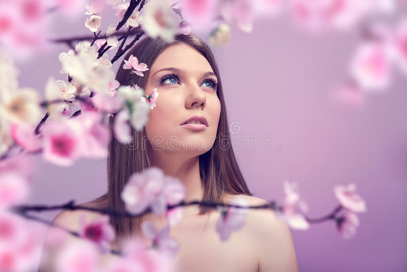 Studioshoot da beleza de Srping foto de stock