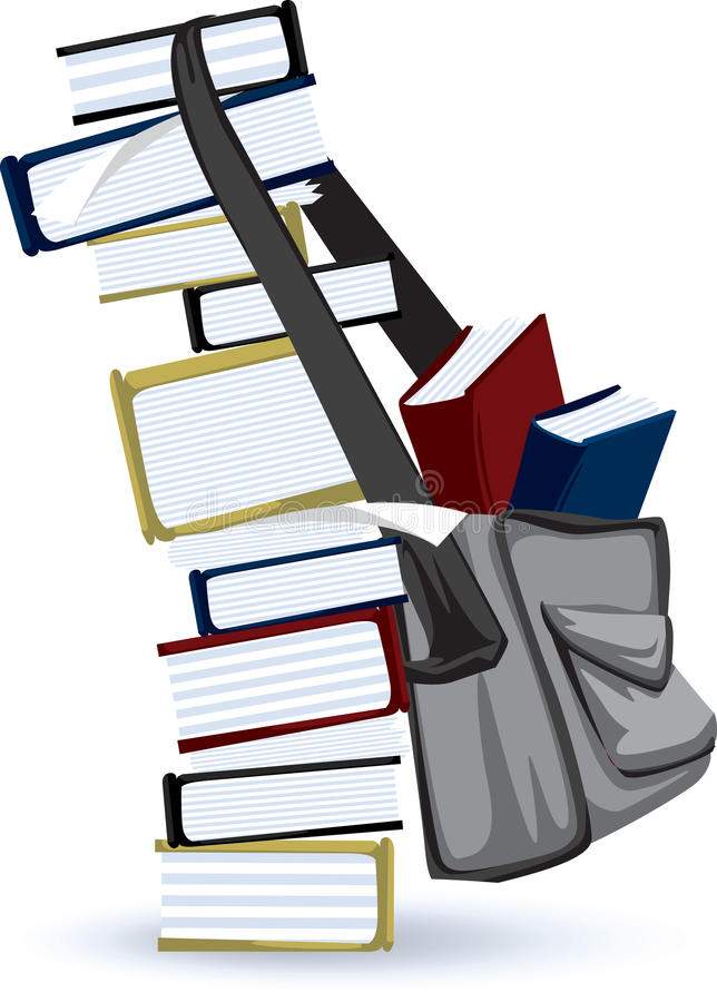 Studious Book Stack. Icon graphic of stacked textbooks suitable for education themed designs. Available in high resolution jpg and vector format stock illustration