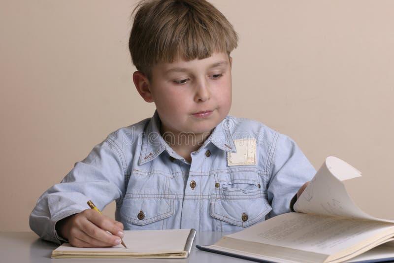 Download Studious pojke fotografering för bildbyråer. Bild av schoolwork - 29829