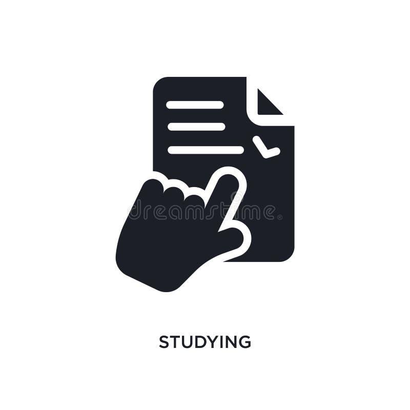 studiować odosobnioną ikonę prosta element ilustracja od nauczania online i edukacji pojęcia ikon studiować editable logo znaka royalty ilustracja