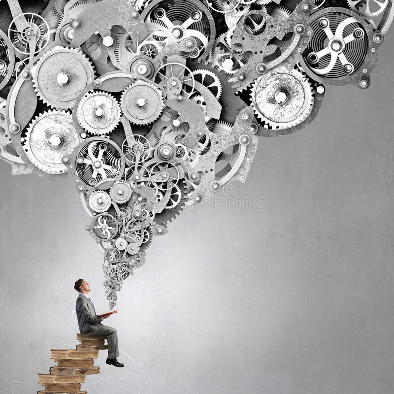Studiowanie biznesu mechanizmy zdjęcie stock