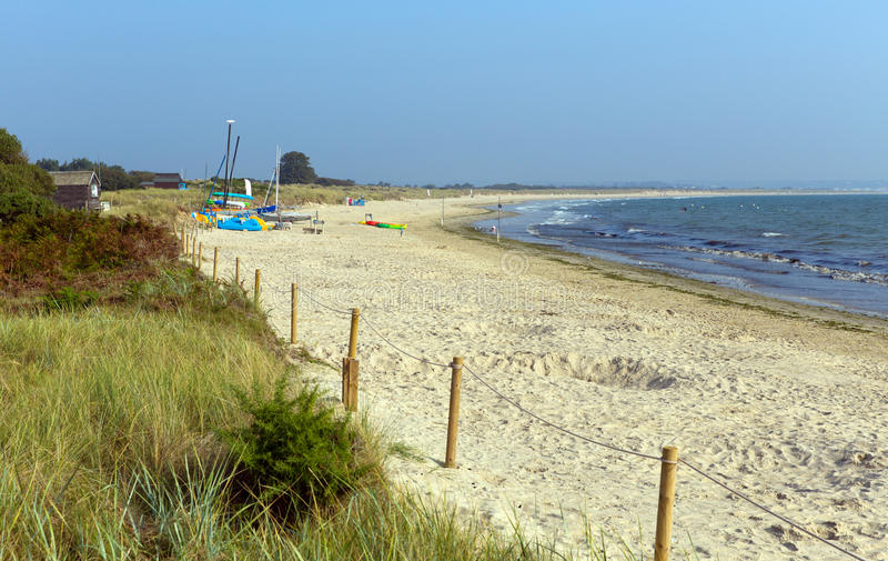 Studland pagórka plaża Dorset Anglia UK zdjęcia stock