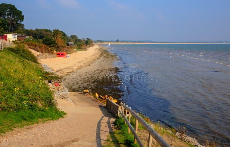 Studland strand Dorset England UK nära banker royaltyfri foto