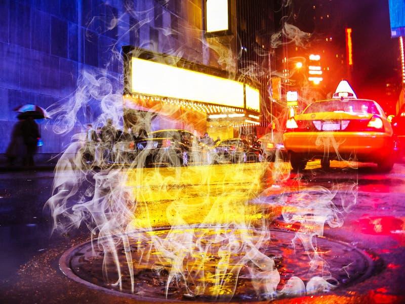 Studnia dymiąca w Nowym Jorku fotografia stock