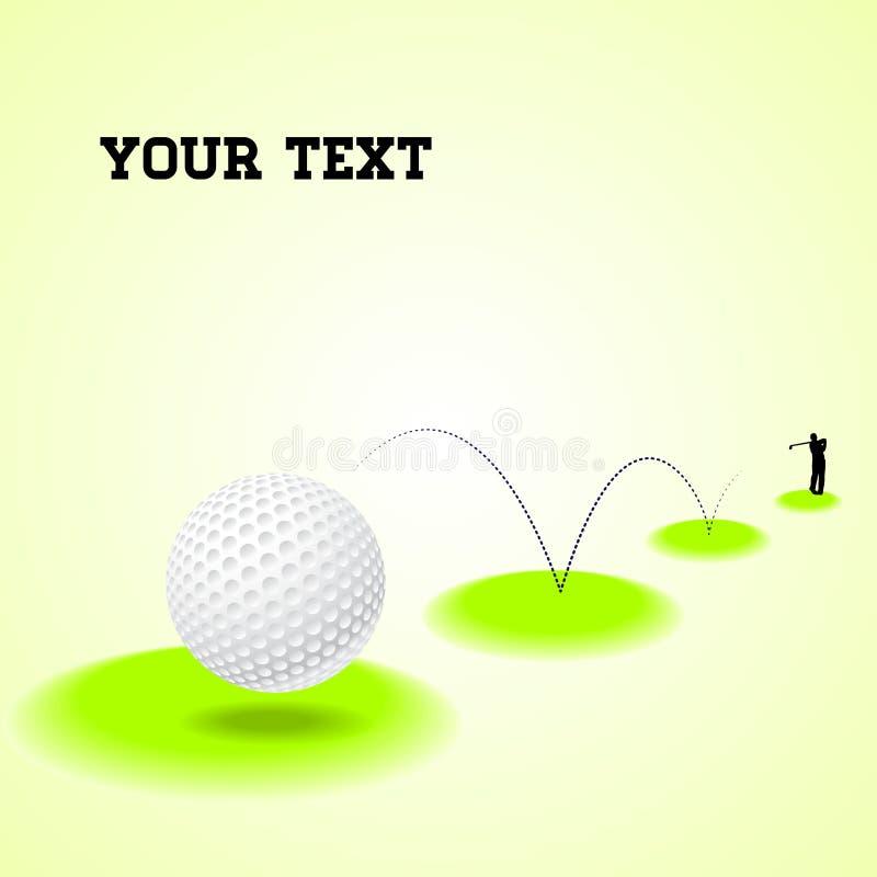 Studsa golfboll royaltyfri illustrationer