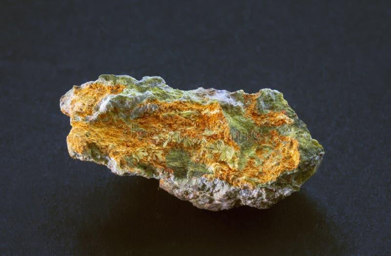 Studtite radioactief mineraal van Shinkolobwe stock fotografie