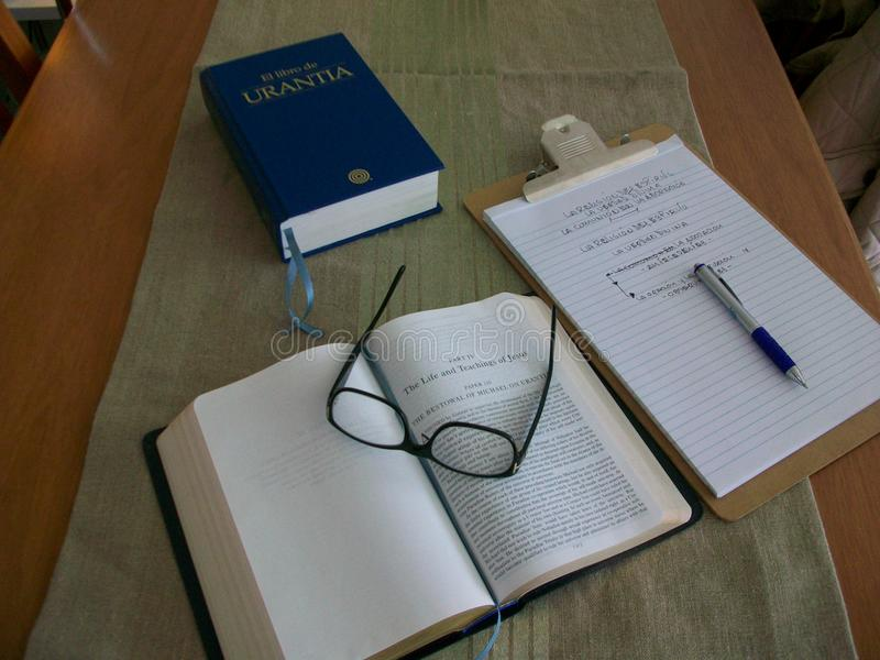 Study Book. Urantia Book Religion Revelation Study stock photo