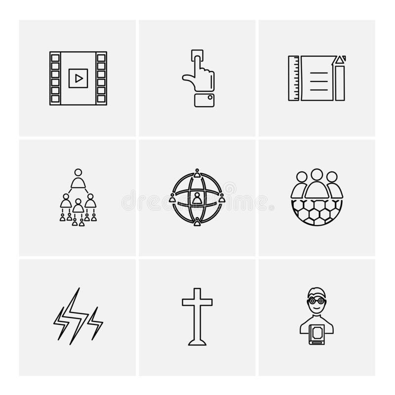 Study , calculator, video , user , networking , religion , eps. Study , calculator, video , user , networking , religion , paint , art , directory , folder vector illustration