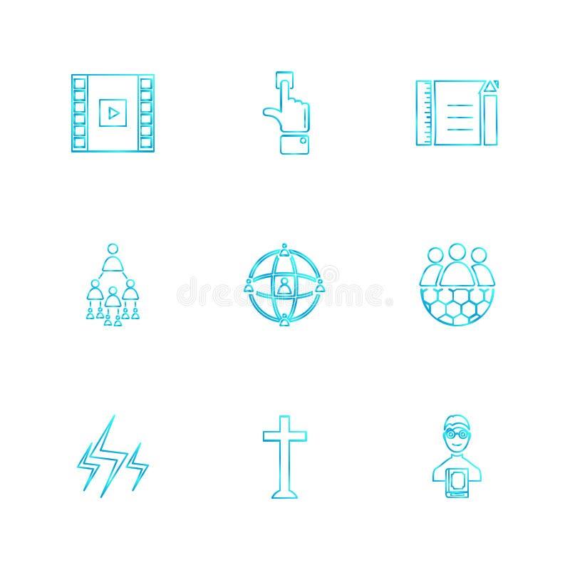 Study , calculator, video , user , networking , religion , eps. Study , calculator, video , user , networking , religion , paint , art , directory , folder royalty free illustration