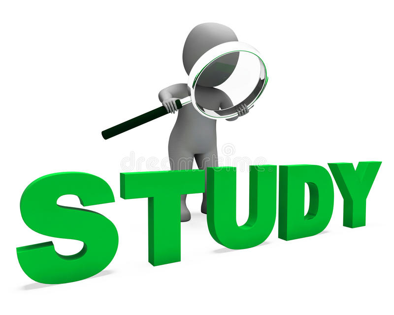 Study Character Shows Studying Learning Or Education vector illustration