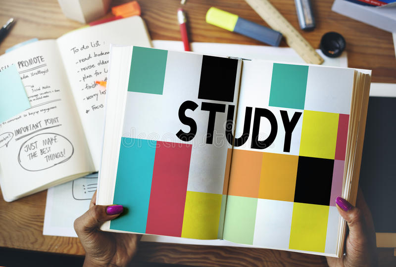 Study Education Knowledge Wisdom Studying Concept.  royalty free stock photo