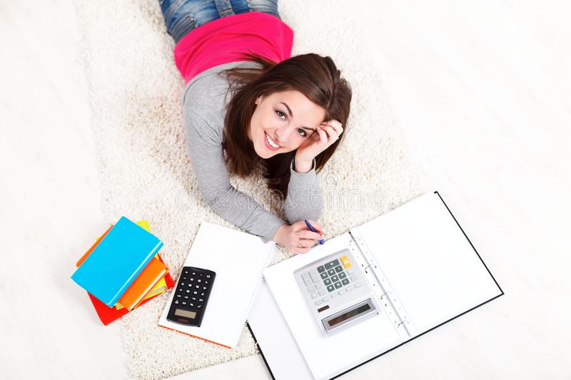 Download Study on floor stock photo. Image of pretty, university - 29030928