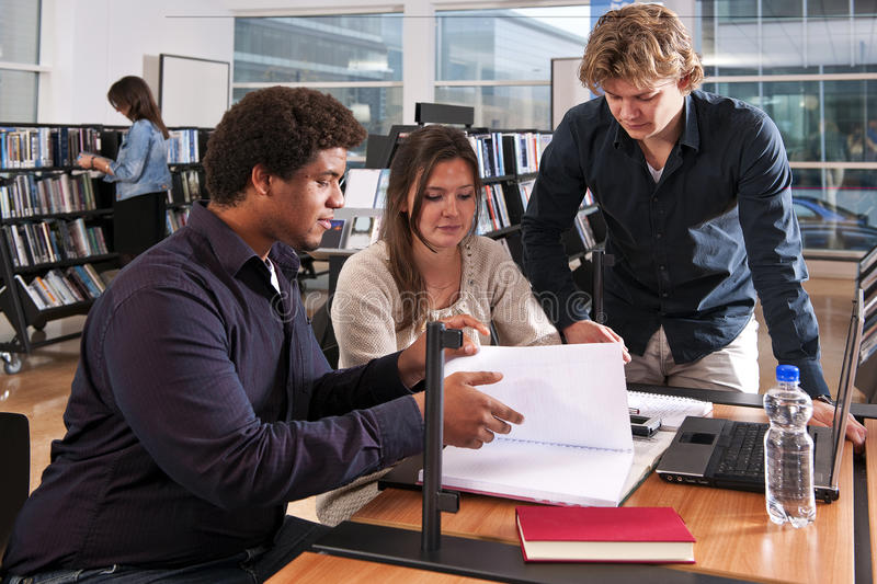 Study group stock photography