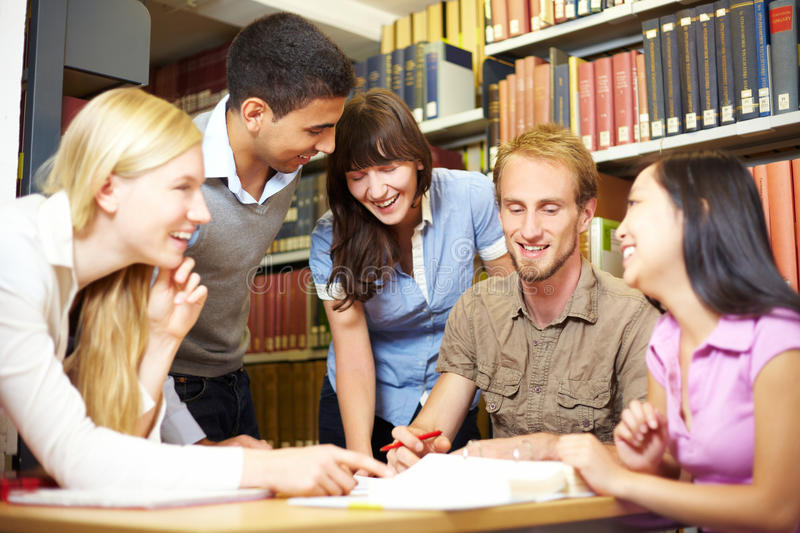 Study group in archive royalty free stock images