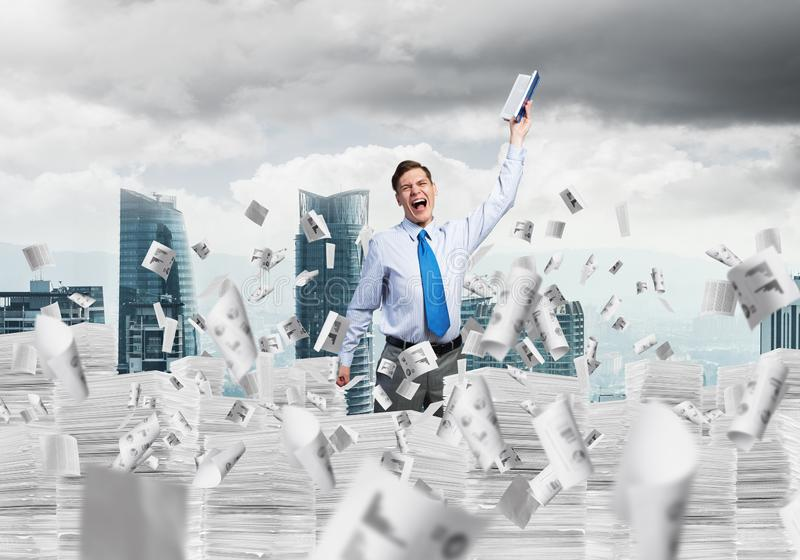Study hard to become successful businessman. royalty free stock images