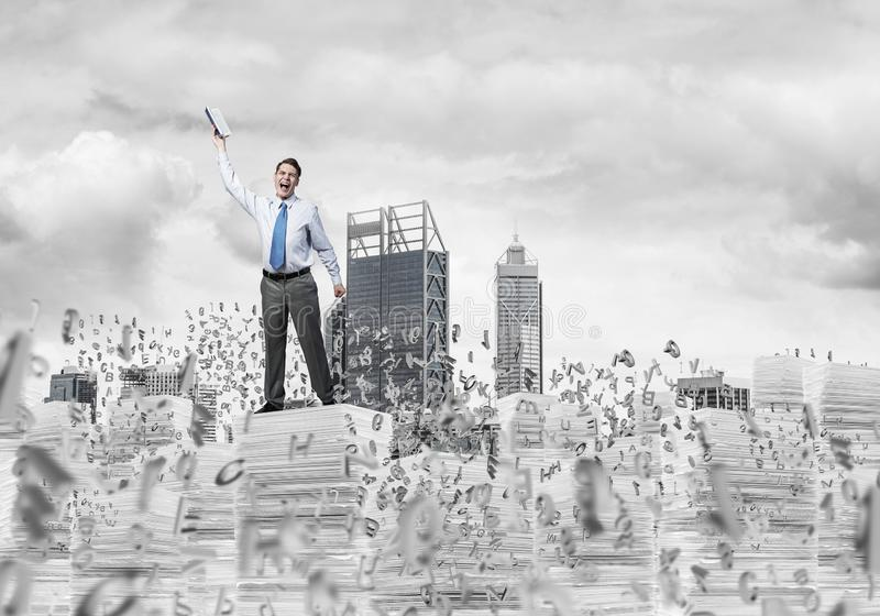 Study hard to become successful businessman. stock images