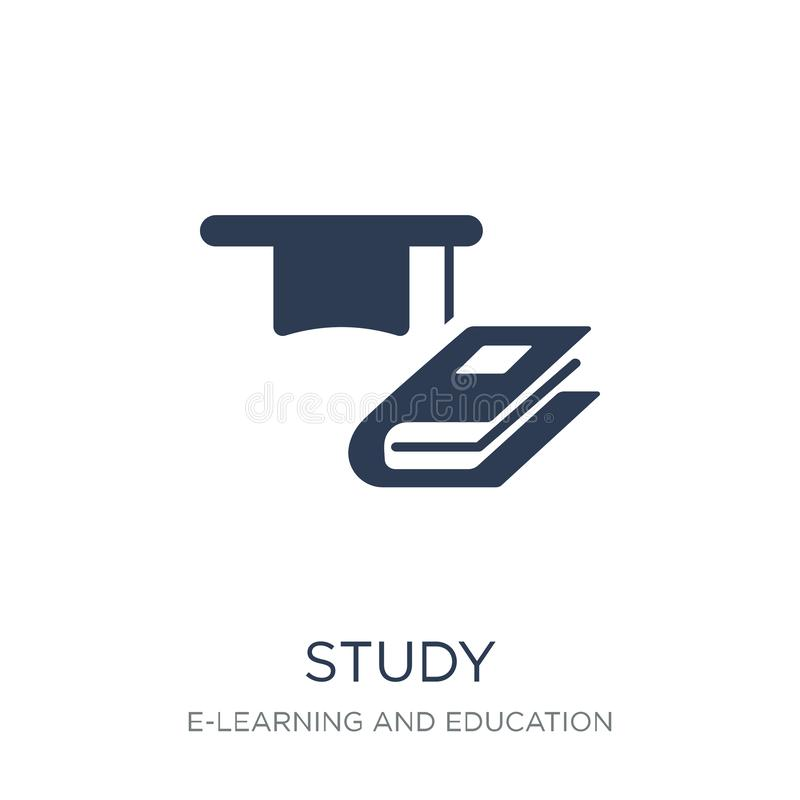 Study icon. Trendy flat vector Study icon on white background fr vector illustration