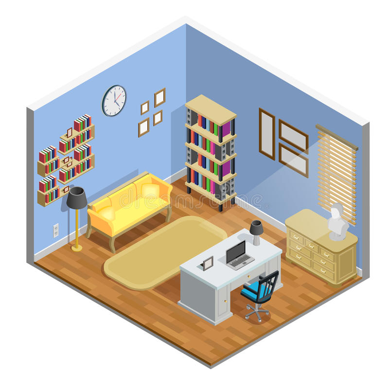 Free Study Room Illustration Stock Image - 79366511