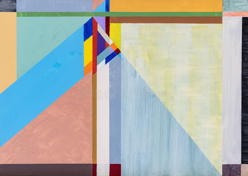 A study for a geometric abstract painting; strong and bold diagonal design royalty free illustration