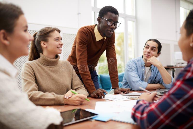 Study Team in College stock photo