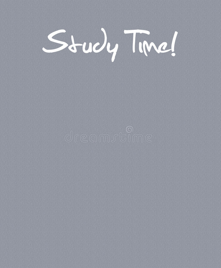 Study Time Back to School illustration with text space stock images