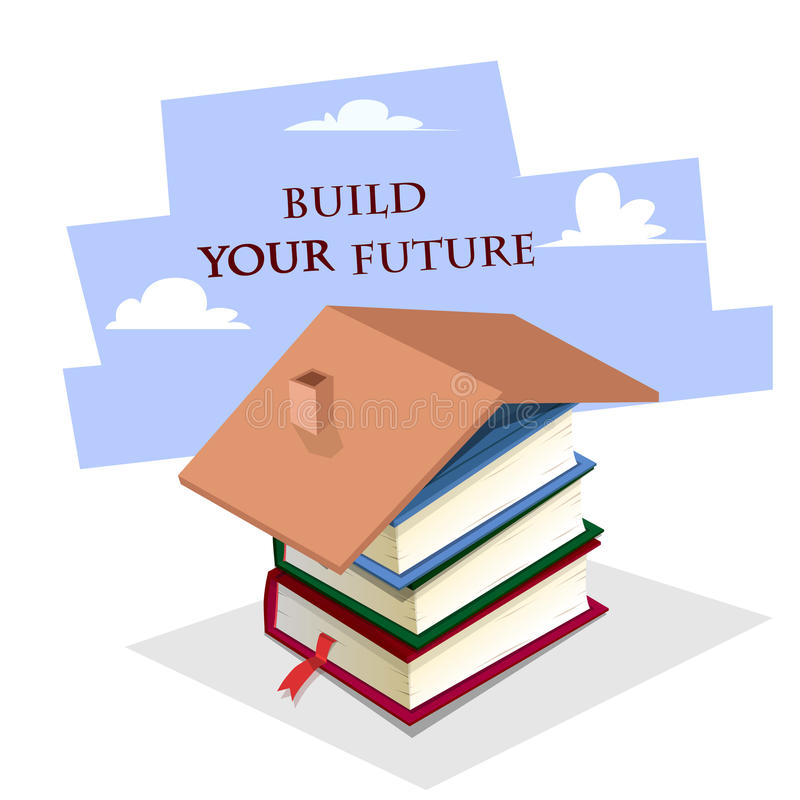 Study to build your better future stock vector image Build your dream home online free