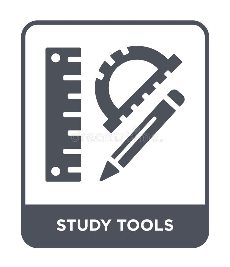study tools icon in trendy design style. study tools icon isolated on white background. study tools vector icon simple and modern stock illustration