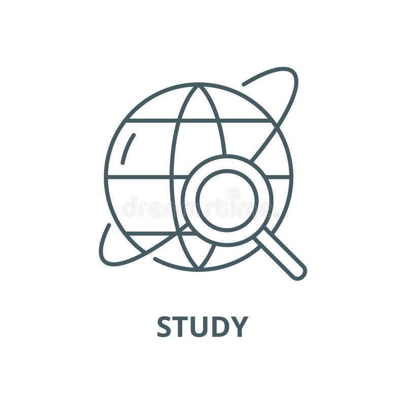Study vector line icon, linear concept, outline sign, symbol vector illustration