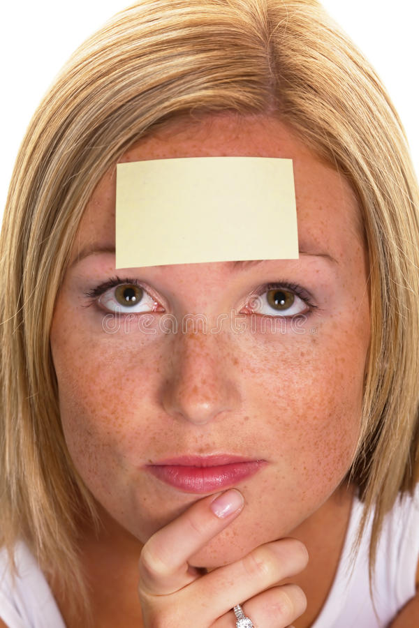 Study On Women With Notepad Stock Photos