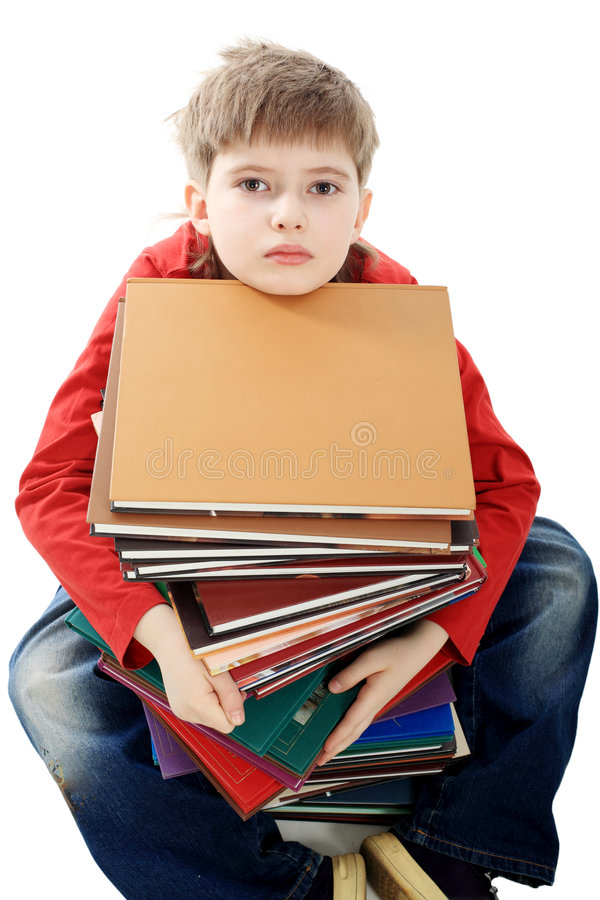Download Studyes durs image stock. Image du haut, garçon, concentration - 8671727