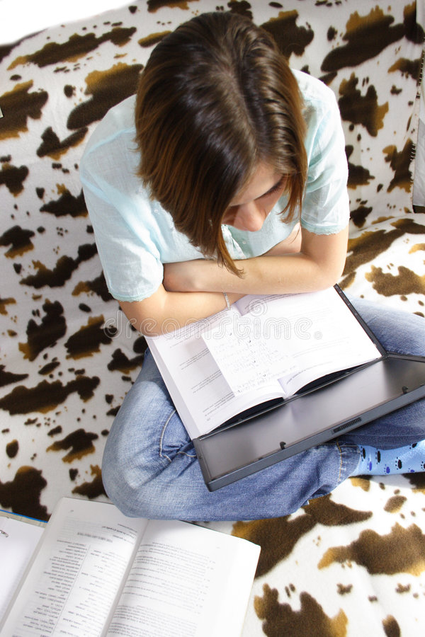 Download Studying stock image. Image of spots, laptop, books, socks - 1369433