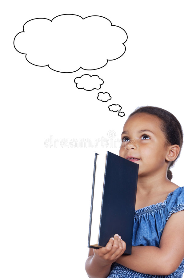 Studying with a book stock photos
