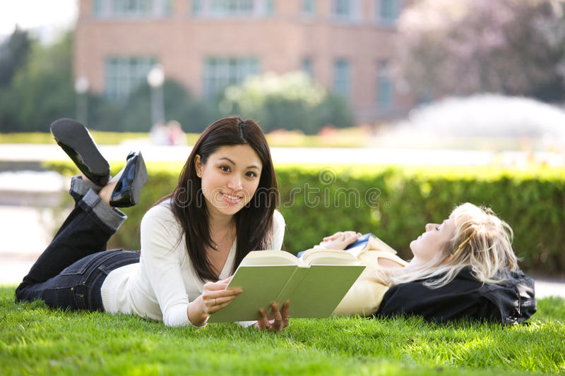 Studying college students stock photography