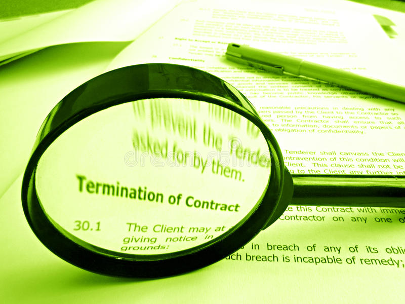Download Studying Conditions Of A Contract Stock Image - Image: 11279747