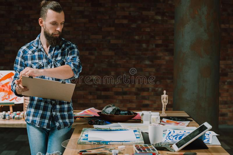 Studying fine art online tutorial self education royalty free stock images