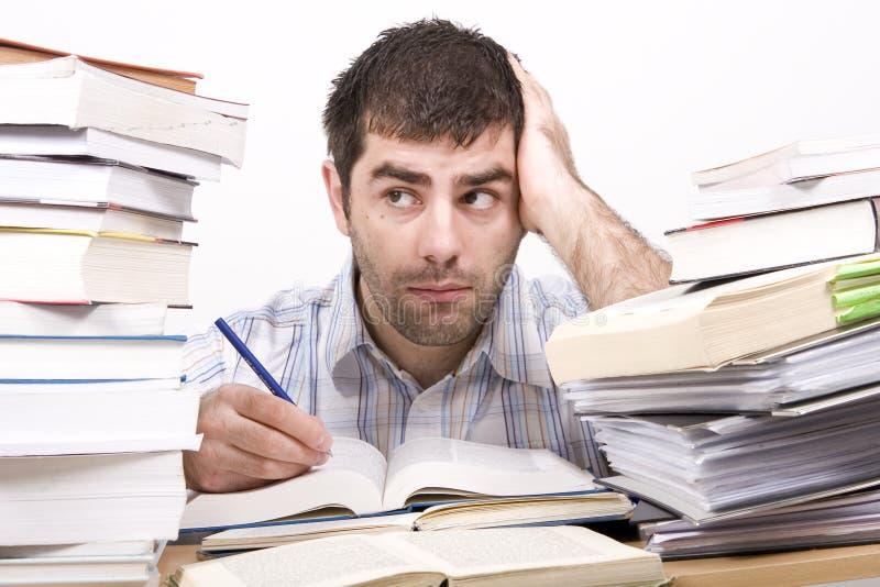 Studying man stock image
