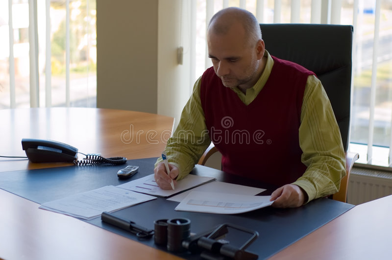 Download Studying report stock image. Image of male, agreement - 4427809