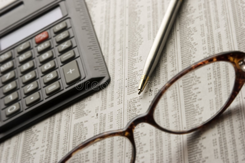 Download Studying the stock market stock image. Image of glasses - 163895
