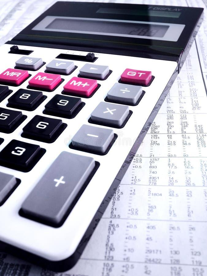 Studying stock market trends stock photo
