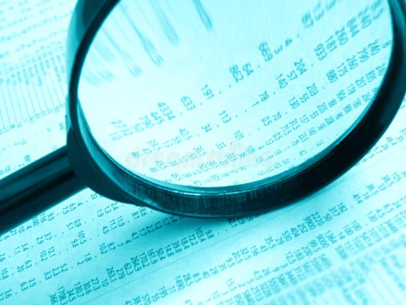 Studying stock prices stock photos