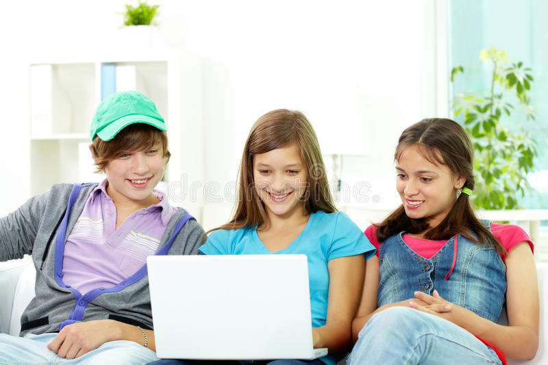 Download Studying teens stock photo. Image of adolescent, group - 30954890