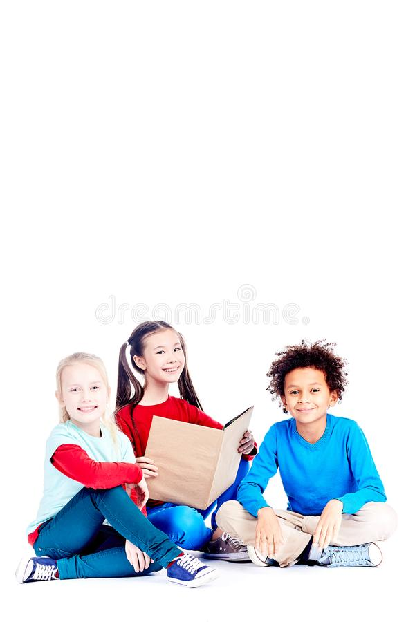 Studying together royalty free stock photos