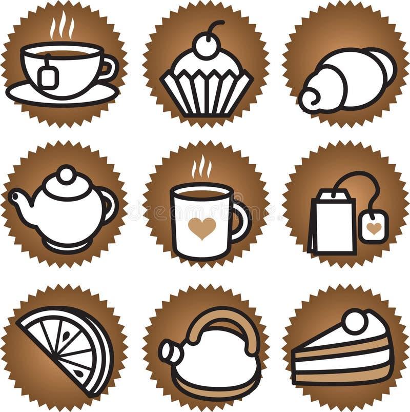 Stuf del té y del café ilustración del vector