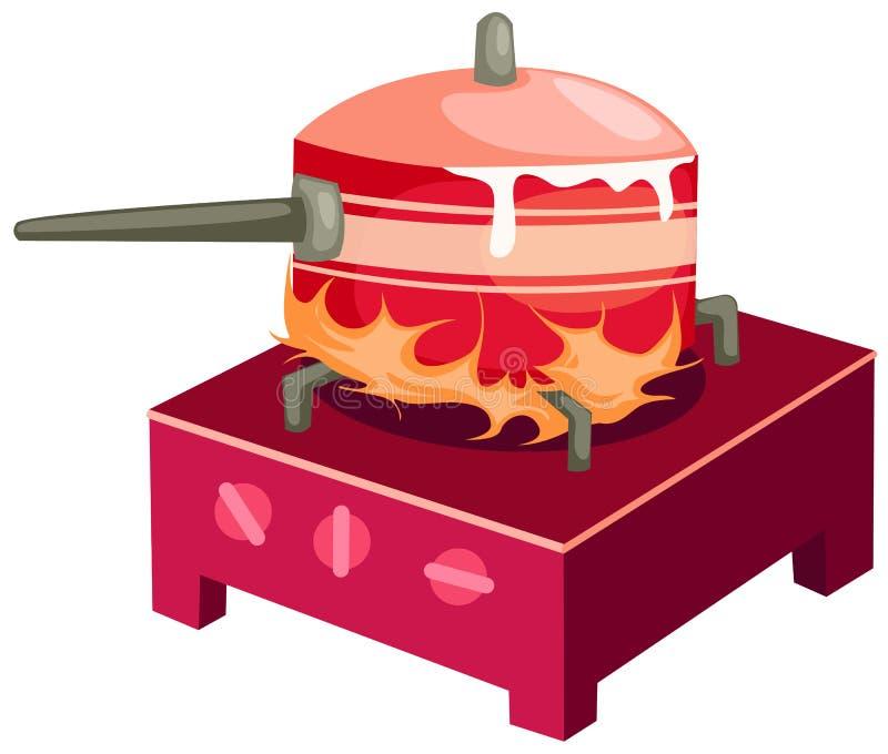 Stufa di cucina royalty illustrazione gratis