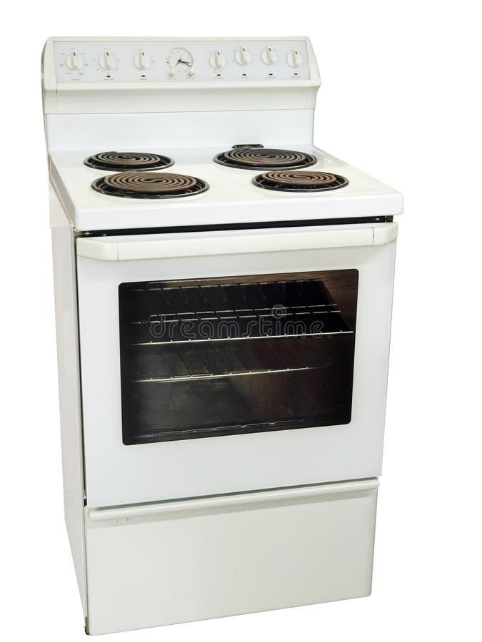 Stufa di cucina bianca fotografia stock libera da diritti