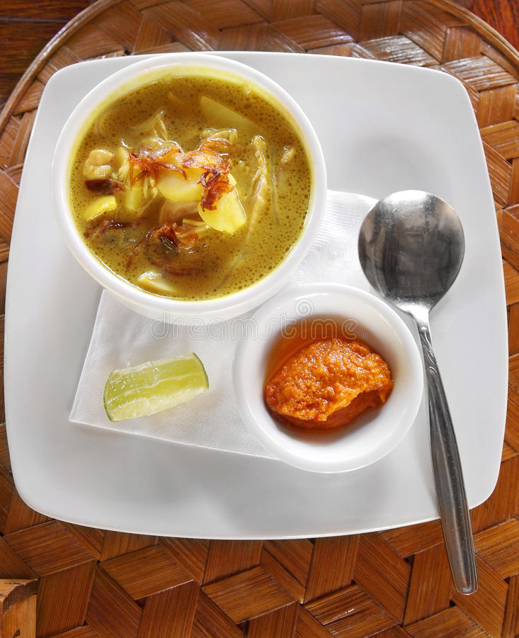 Stufato indonesiano dell'alimento, del pollo & della patata fotografia stock libera da diritti