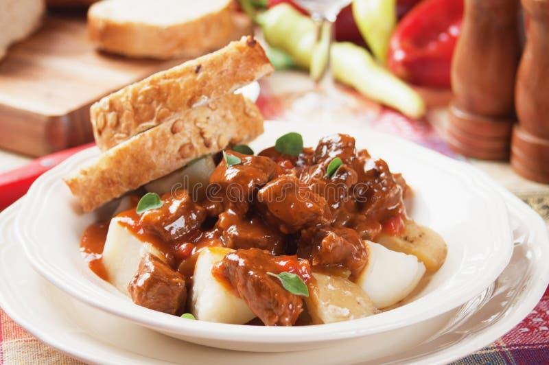 Stufato o goulash di Beew fotografie stock libere da diritti