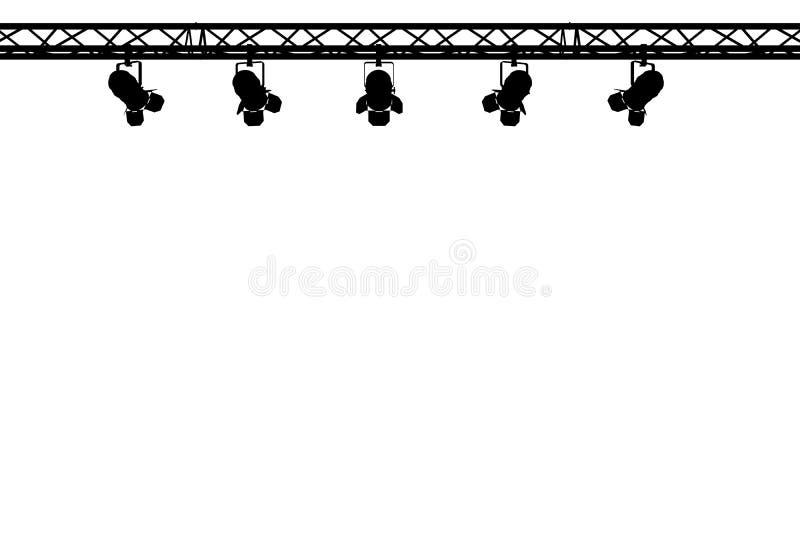 Stufe beleuchtet Schattenbild stock abbildung